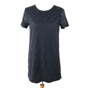 W118 By Walter Baker Black Lace Shift Dress